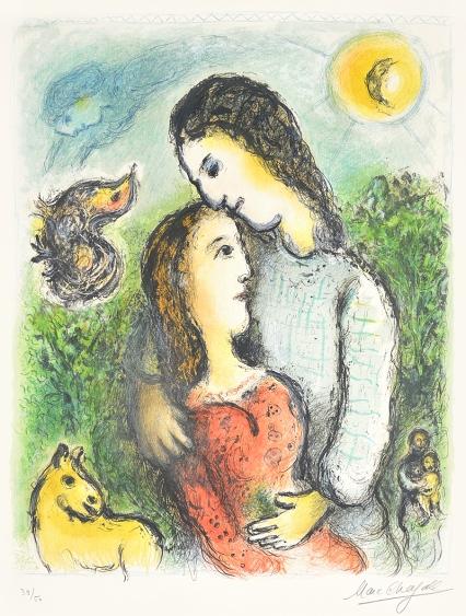 kleurenlitho marc chagall