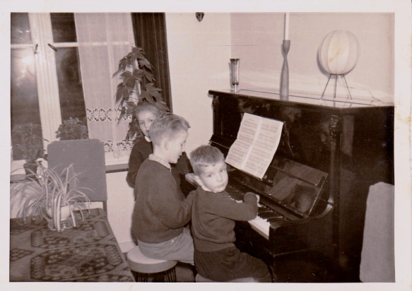 Aan de piano, winter 1962